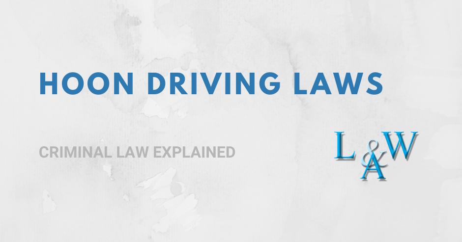 Hoon Driving Laws